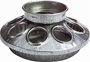 Miller Mfg 1 Quart Round Jar Feeder Base