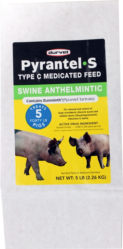 Durvet Pyrantel-S Swine Anthelmintic 5 Pound - Durvet 00107971